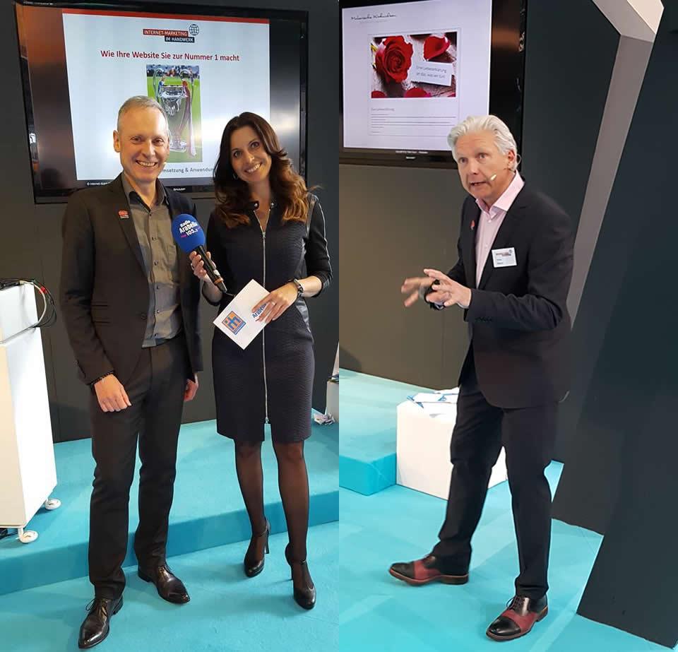 Thomas Issler und Volker Geyer mit Natascha Zillner
