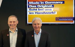 Thomas Issler und Volker Geyer auf der IHM