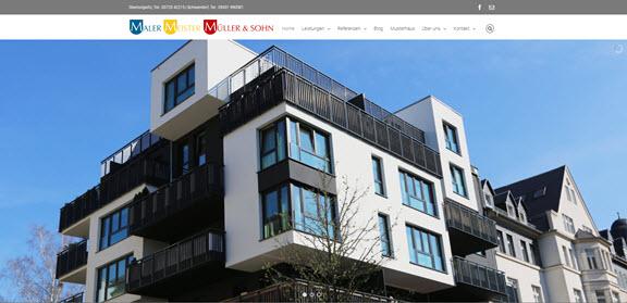 Malermeister Müller und Sohn Website