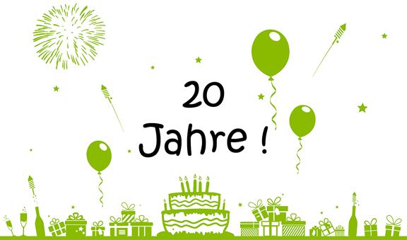 20-jähriges Firmenjubiläum 0711-Netz
