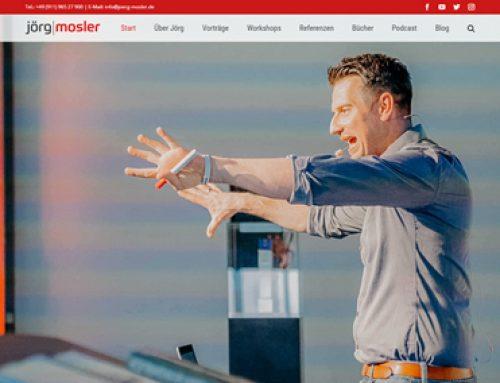 Jörg Moslers neue Website – Herausforderung und Freude für Thomas Issler und sein Team