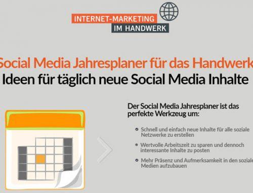 """Der erste Social Media Jahresplaner fürs Handwerk: """"Genau das, was das Handwerk braucht"""""""